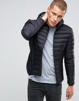 Schott Lightweight Down Jacket Hooded
