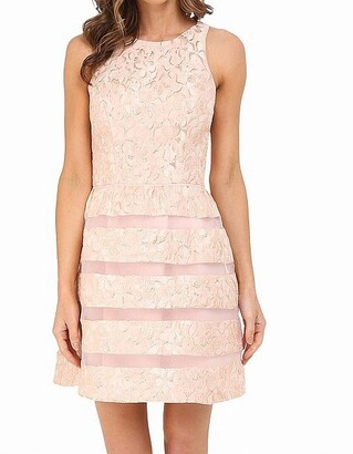 Aidan Mattox Aidan Women's Sleeveless Cocktail Party Dress with Skirt Detail