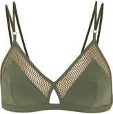 Elle Macpherson Body Net Mesh-trimmed Stretch-jersey Soft-cup Triangle Bra