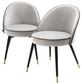 Eichholtz Upholstered Side Chair Upholstery Color: Gray