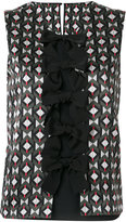 Fendi patterned bow vest