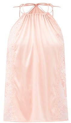 La Perla Exotique Halterneck Silk-blend Camisole - Pink