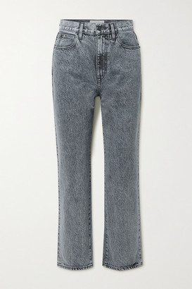 SLVRLAKE London Cropped High-rise Straight-leg Jeans - Gray