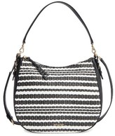 Kate Spade Cobble Hill - Straw Mylie Raffia & Leather Hobo - Black