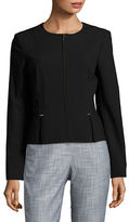 Calvin Klein Cutout Pleat Detail Blazer