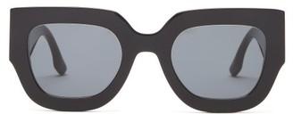 Victoria Beckham Square Acetate Sunglasses - Black
