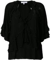 IRO ruffled V-neck blouse - women - Viscose - 38
