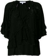 IRO ruffled V-neck blouse