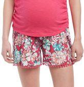Maternity Oh Baby by MotherhoodTM Secret Fit BellyTM Print Soft Shorts