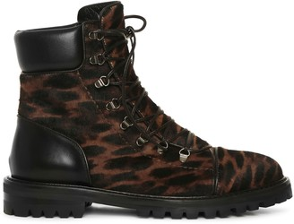 Alaia Leopard calf leather boots