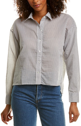 James Perse Collage Stripe Boxy Shirt