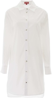 STAUD SHIRT DRESS S White Cotton