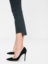 Mother Insider Crop Step Fray - Pretty Just Strolled In The City - Faded Black