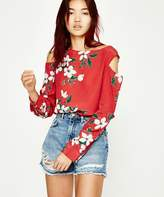 Neuw Danni Top Red Flower