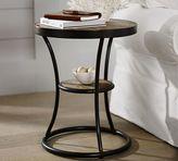 Pottery Barn Bartlett Reclaimed Wood Metal Side Table