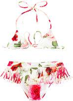 MonnaLisa fringed bikini - kids - Polyester/Spandex/Elastane - 2 yrs