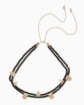 Charming charlie Beaded Station Slip & Pull Choker Necklace