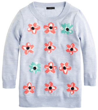 J.Crew Merino Tippi sweater in graphic floral
