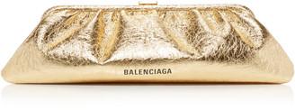 Balenciaga Cloud Metallic Leather Clutch