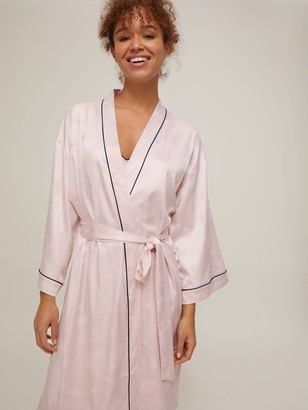John Lewis & Partners Feather Jacquard Robe, Oyster