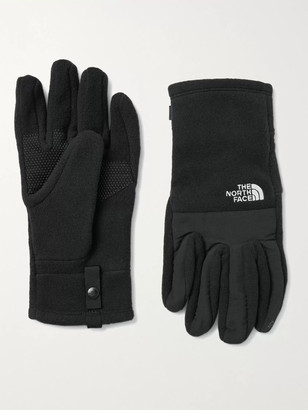 The North Face Denali Etip Logo-Embroidered Fleece And Nylon Taslan Gloves