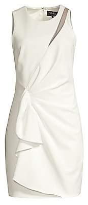 Parker Black Women's Adair Ruffle Crepe Sheath - Size 0