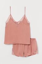 H&M Satin Pajamas - Pink