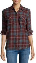 Current/Elliott The Perfect Long-Sleeve Shirt, Lincoln Plaid