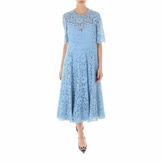 Valentino Heavy Lace Flared Dress
