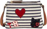 Tommy Hilfiger Adelina Bicolore Striped Shoulder Bag