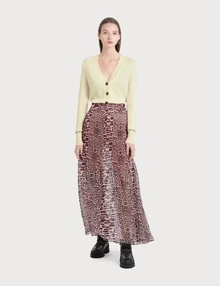 Ganni Pleated Georgette Maxi Skirt