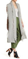 Ella Moss Fringe Knit Sleeveless Duster