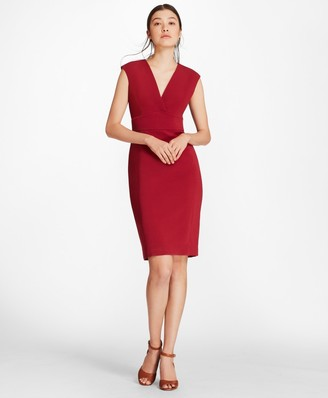 Brooks Brothers Double-Weave Crepe Sheath Dress