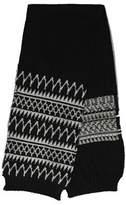 Dries Van Noten Men's White/black Wool Scarf.