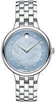 Movado Trevi Stainless Steel Bracelet Diamond Marker Watch