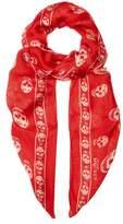 Alexander McQueen Skull-print silk-chiffon scarf