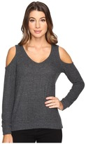 Michael Stars Super Soft Madison Brushed Jersey Cold Shoulder
