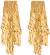 Josie Natori Hammered Gold Waterfall Earrings