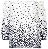 Wallis Ivory Polka Dot Bardot Top