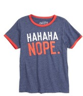 Mighty Fine Toddler Boy's Hahaha Nope Graphic T-Shirt