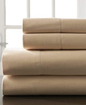 Elite Home Hemstitch Cotton 400 Thread Count 5-Pc. Split King Sheet Set Bedding