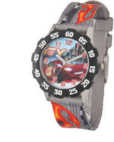 Disney Lightning McQueen Cars Kids Gray Nylon Strap Watch