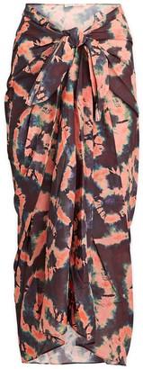 Ulla Johnson Paz Tie-Dye Pareo Skirt