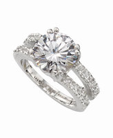 Charter Club Ring Set, Silver-Tone Cubic Zirconia Engagement (6-3/8 ct. t.w.)