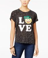 Freeze 24-7 Juniors' Love St. Patrick's Day Graphic High-Low T-Shirt