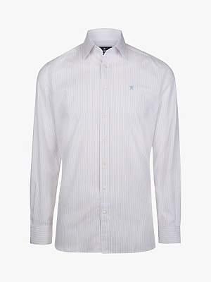 Hackett London Two Colour Stripe Classic Fit Shirt