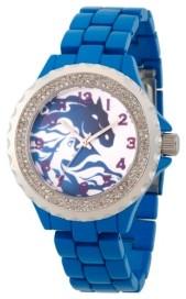 EWatchFactory Disney Frozen 2 Elsa Women's Enamel Sparkle Blue Alloy Watch 41mm