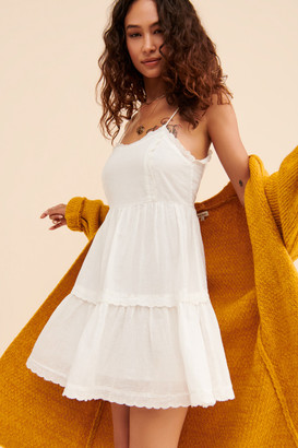 Urban Outfitters Hanna Scallop Babydoll Mini