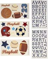 NoJo , Wall Decals, Navy/Red/Indigo/Ivory/Brown