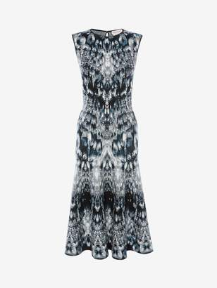 Alexander McQueen Crystal Jacquard Midi Dress